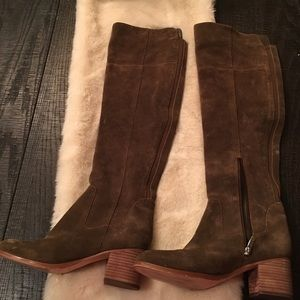 Marc Fisher Olive Green Suede knee boots